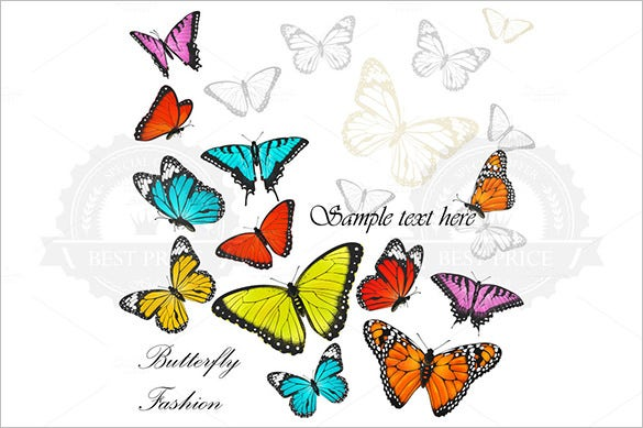 premium colourful butterfly background download