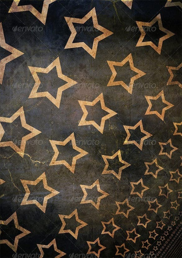 premium golden star background