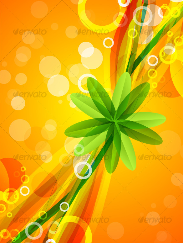 premium leaf star on orange background