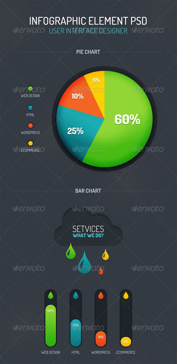 premium psd infographic element