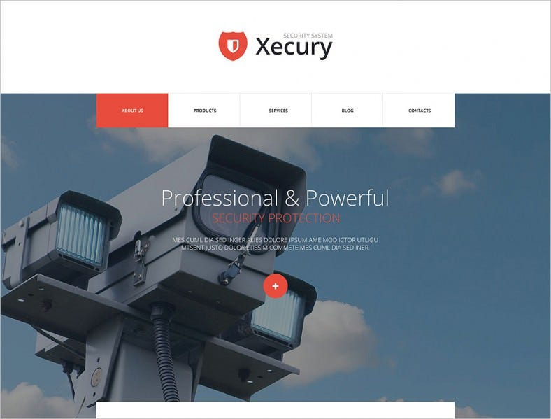 Premium & Responsive Joomla Theme for Security System