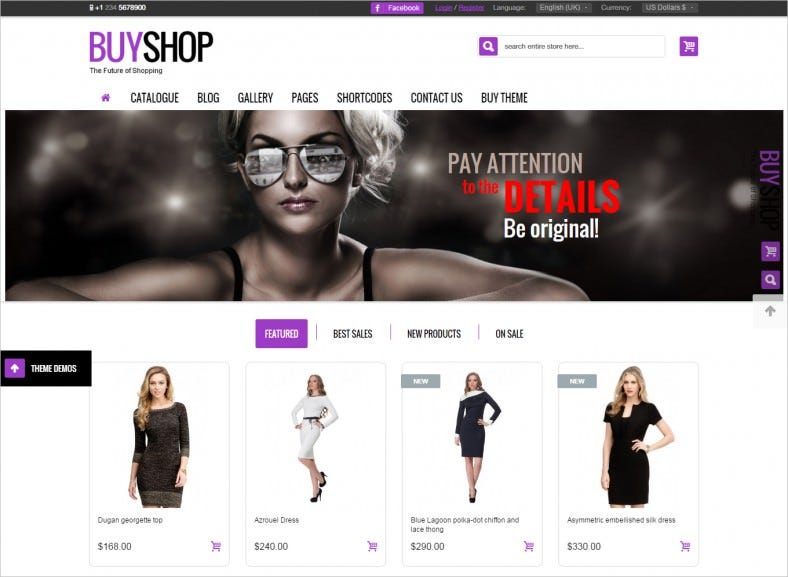 Premium Responsive Virtuemart Theme for Fashion Store