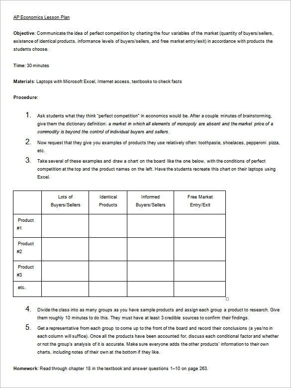 Lesson Plan Outline Template 12 Free Sample Example Format – Sample Unit Plan