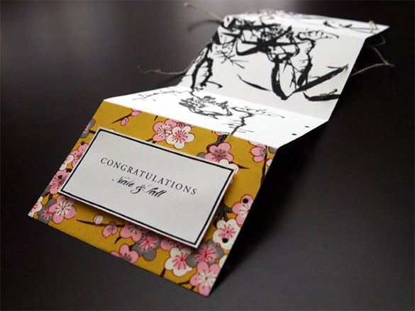 print design wedding congrailations card
