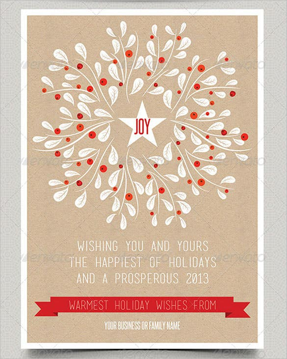 print holiday card template 5