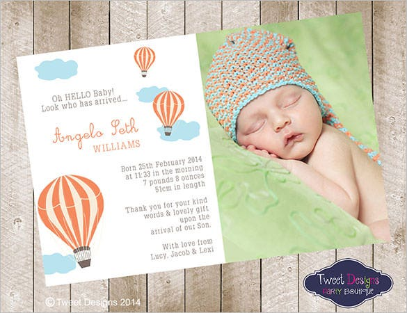 20 Baby Thank You Cards Free Printable Psd Eps Indesign