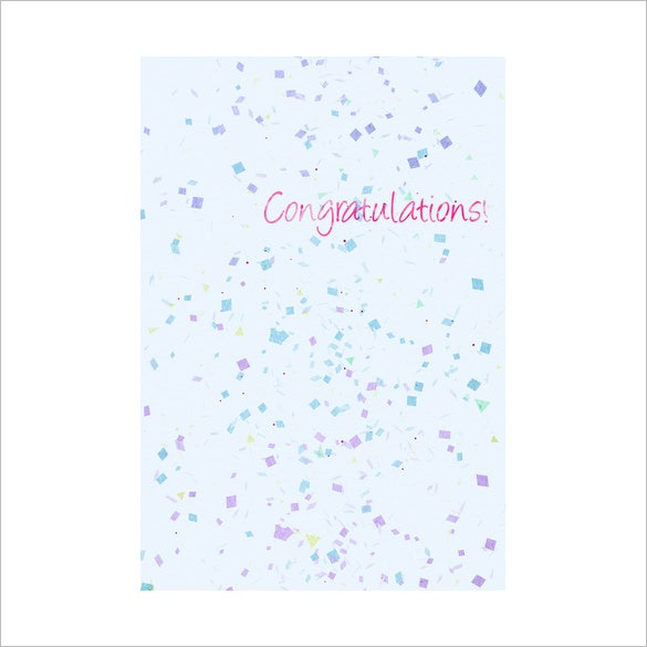 printable congratulations greeting card sample