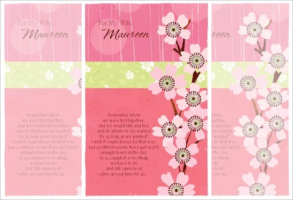Anniversary Card Template   Free Sample Example Format Download