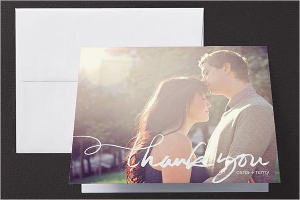 printable free wedding thank you card
