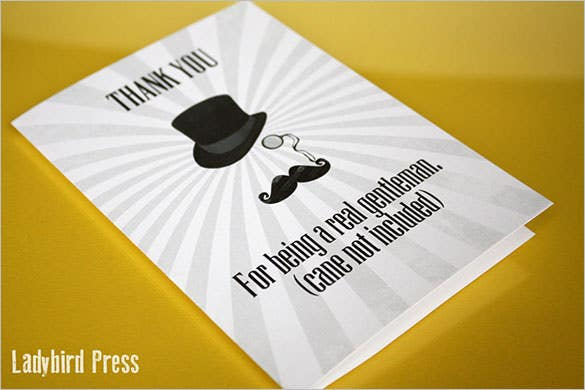 printable funny thank you cardgentleman