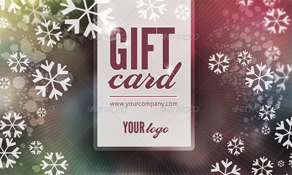printable holiday gift card template