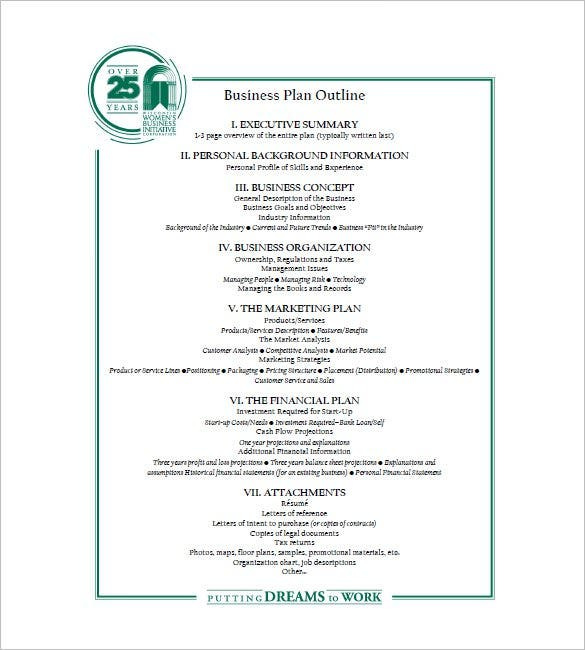 Business Plan Outline Printable Template Can Be Easily Printed. This  Template Includes All The Essentials Of A Business Plan Such As Personal  Background, ...  Printable Business Plan