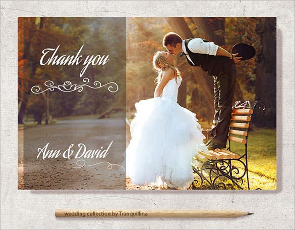 printable photo thank you card moderndesign