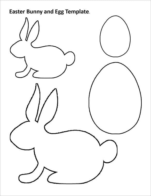 printable rabbit body outline template sample