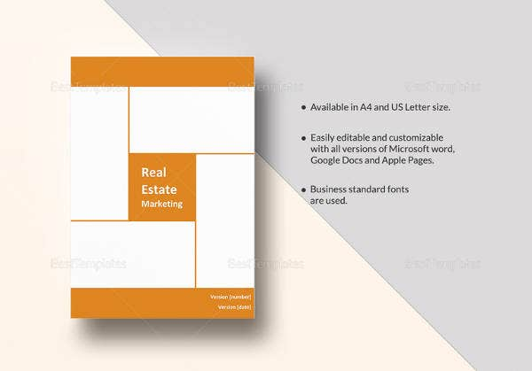 printable real estate marketing plan
