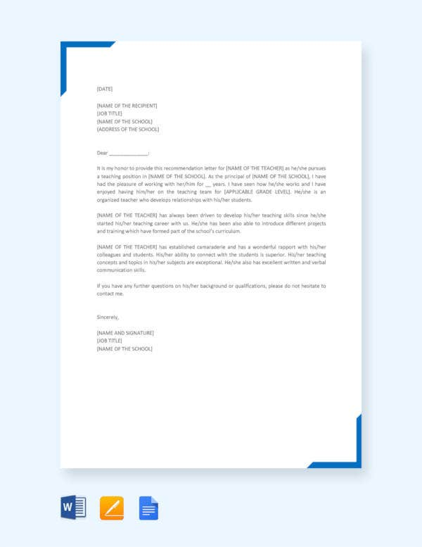 printable-recommendation-letter-for-a-teacher