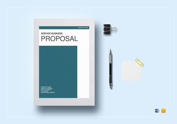 printable service business proposal template