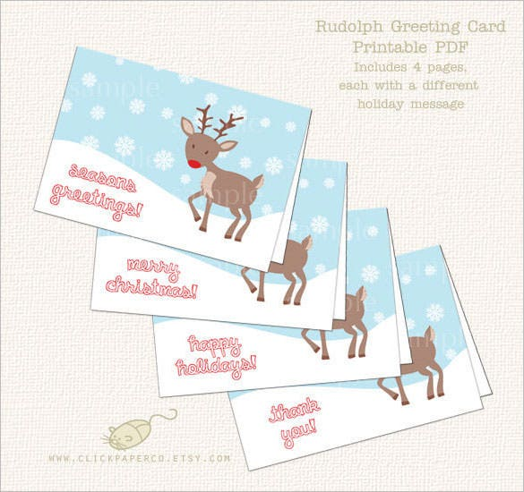 printable simple holiday thank youcard