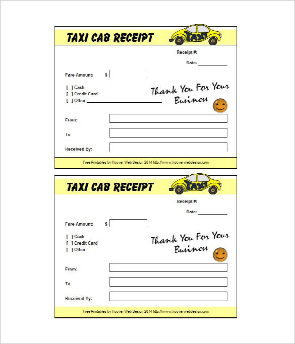 Taxi Receipt Template 10 Free Word Excel PDF Format Download