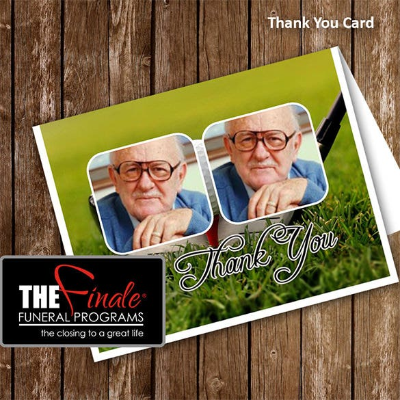 printable thank you funeral card template