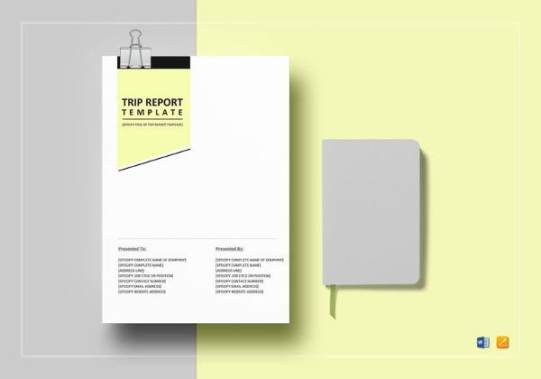 printable trip report template