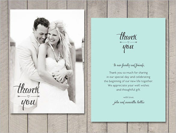 Thank You Card Templates Free Download Thank You Card Unique – Wedding Thank You Card Sample