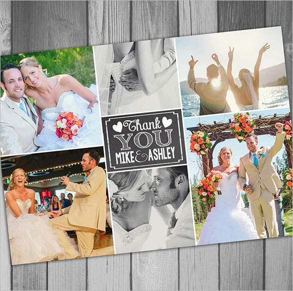 printable wedding thank you cardphoto