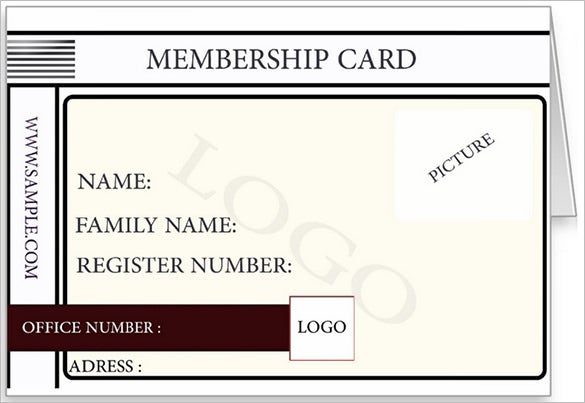 printed membership card sample