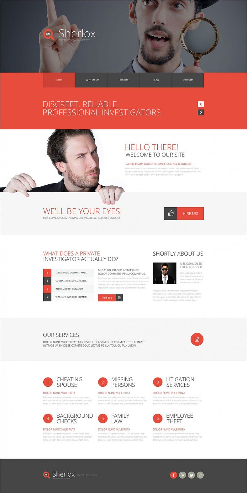 Private Investigation Website Template