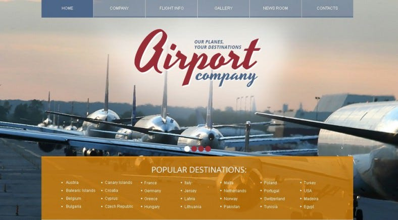 Private Transport Company Joomla Template