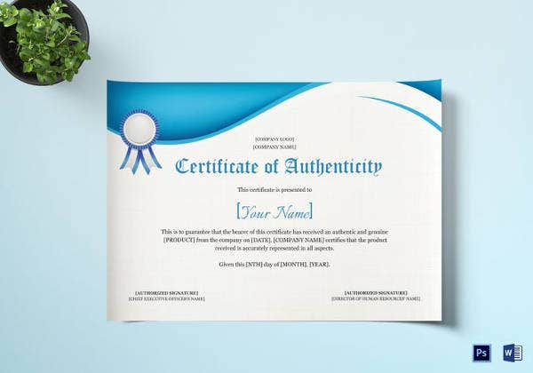 product-authenticity-certificate-template