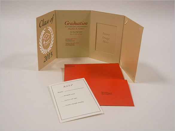 product design graduation invitation card template