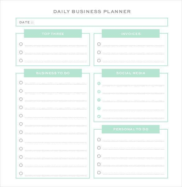 High Quality Professional Daily Business Planner  Daily Organizer Template