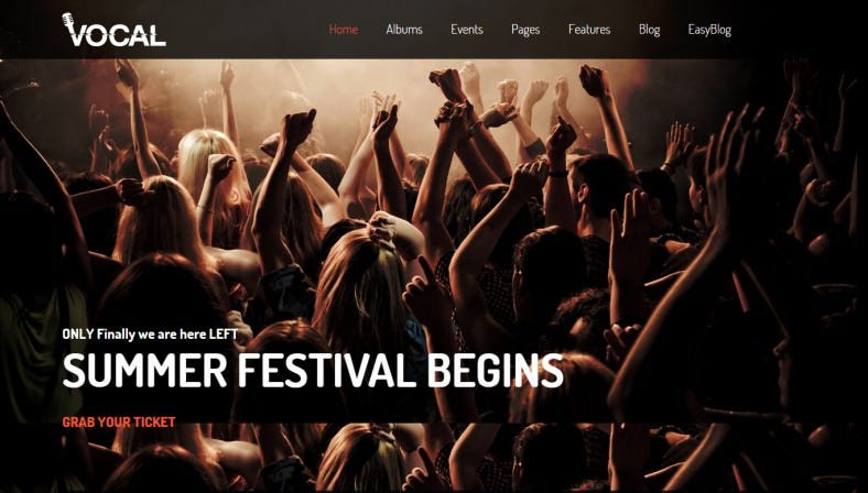 Professional Dance & Night Club Joomla Template