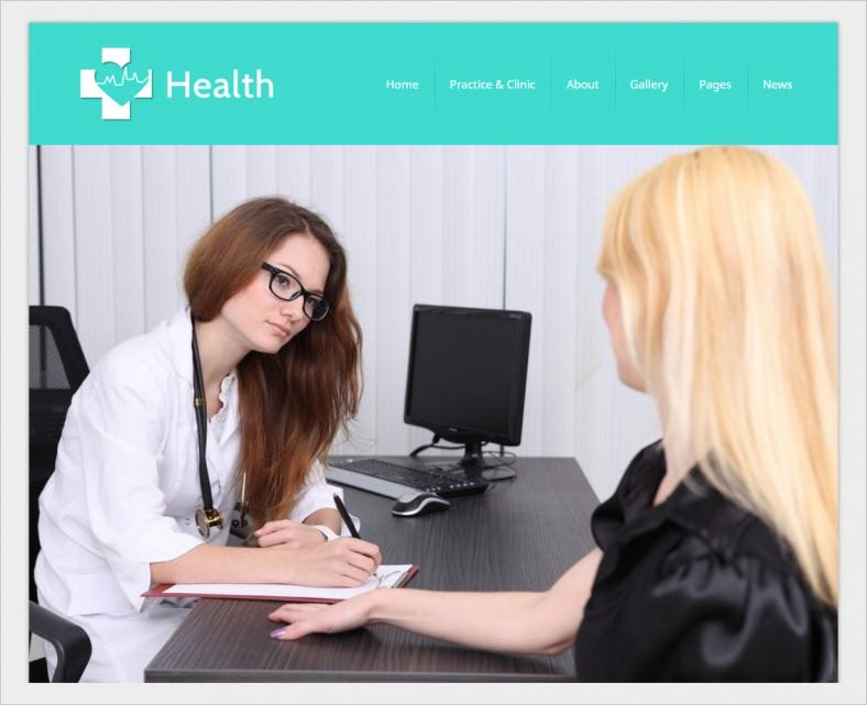 Professional Doctors & Hospitals WordPress Template