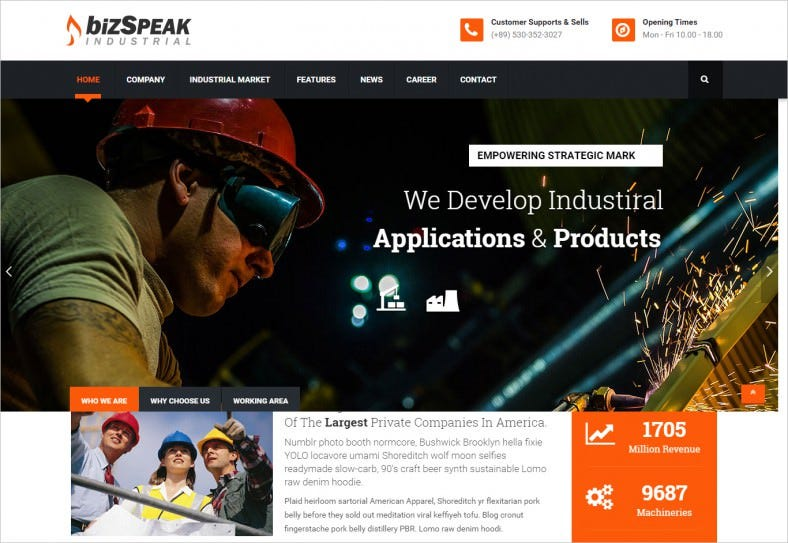 Professional Joomla Theme for Industrial Business