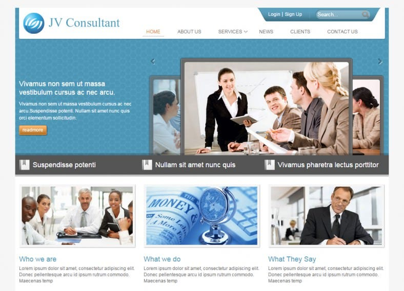 Professional Looking Joomla Theme for Consulting Service