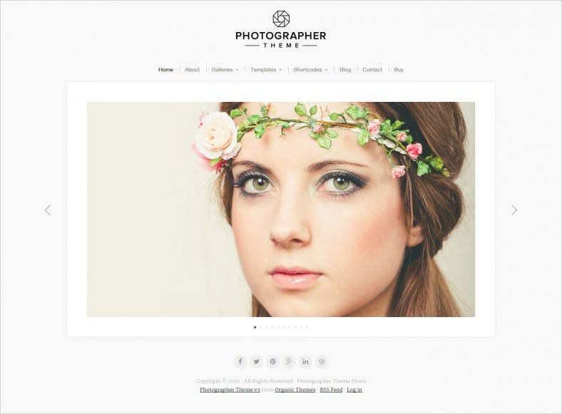 Professional Photographer WordPress Template