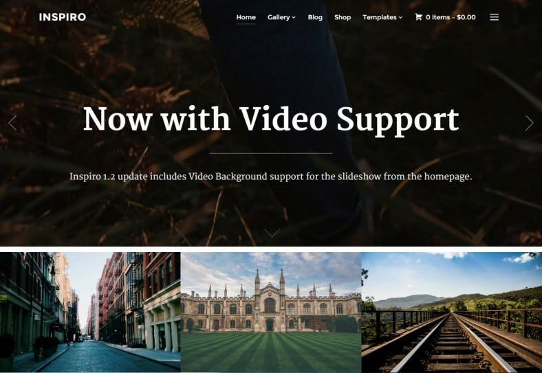 Professional Photography Fullscreen WordPress Template