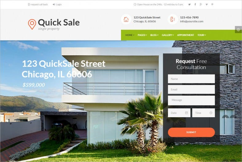 Property Owners & Real Estate WordPress Theme