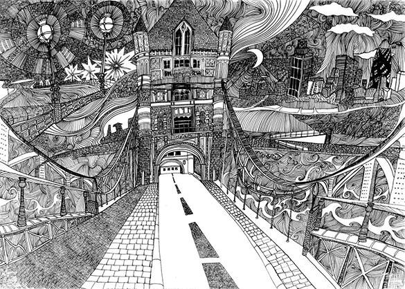 psychogeographic doodle art download