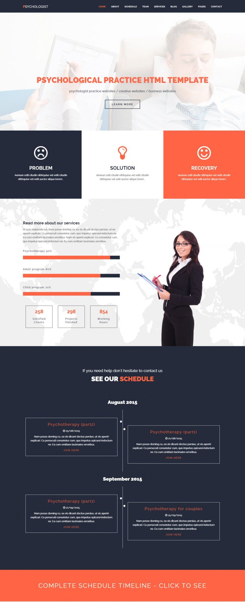 Psychological Practice HTML Template
