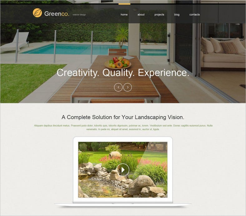 Quality Exterior Design Muse Template