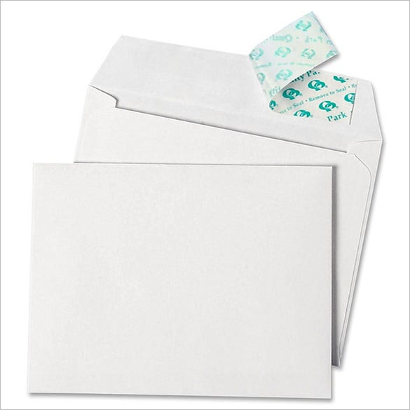 quality quarter fold card envelope template