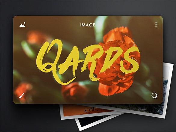 quards component photo card free download