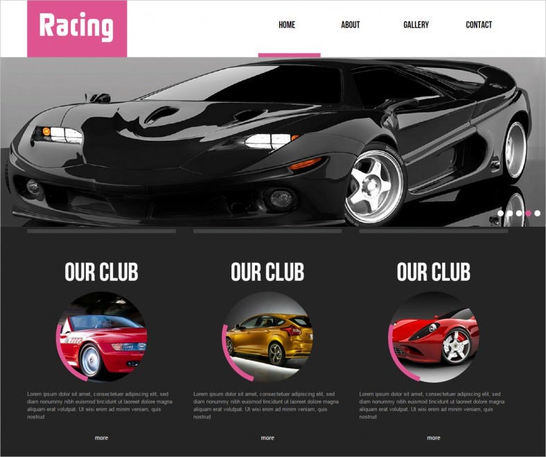 9 speed racing website templates free premium templates