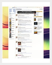Rainbow Abstract Swirls Facebook Layout For Business Background