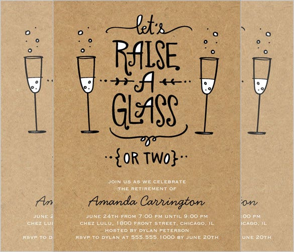 raise your glass summer invitation card download