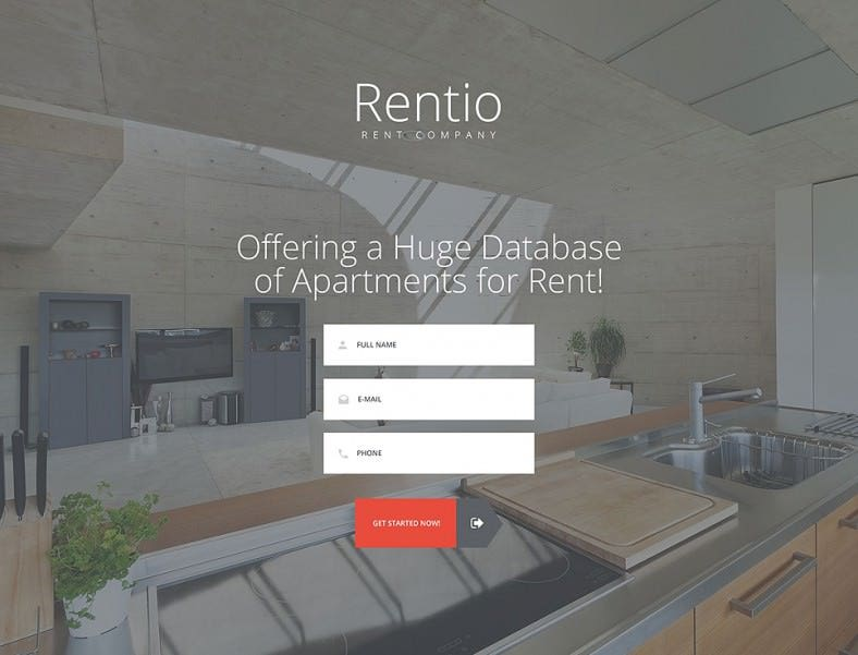 Real Estate Agency HTML5 Landing Page Template