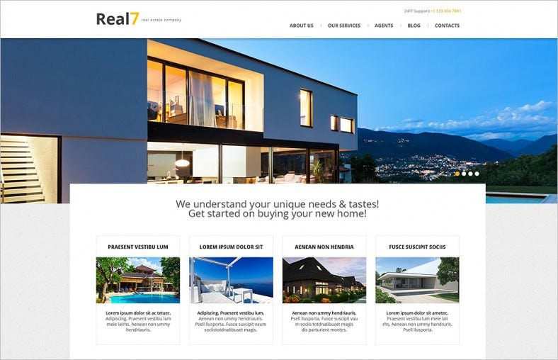 real estate agency responsive wordpress theme 788x508